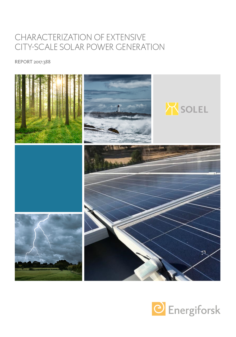 Characterization of extensive city-scale solar power